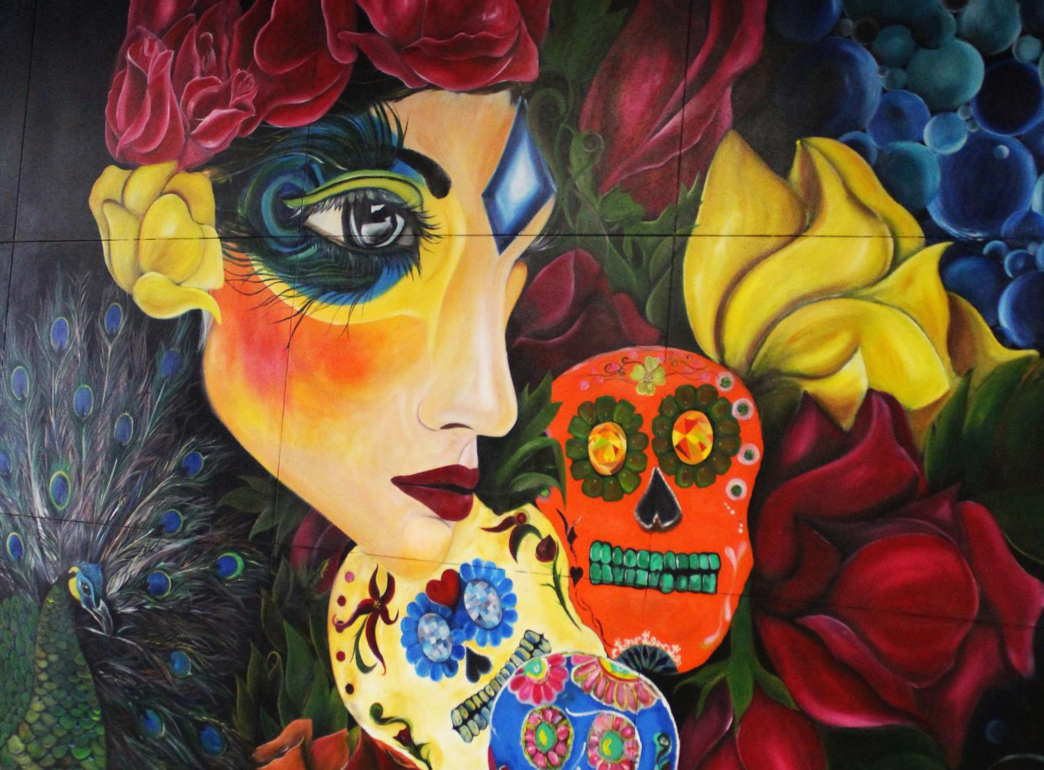Sugar skulls that give downtown a taste of a different culture.