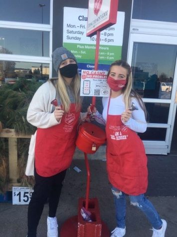 FBLA students bell ringing, photo by Mr.Wooderson