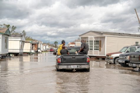 Hurricane Ida dumped inches of rain in a short period of time, making it extremely dangerous to travel on foot. Photo courtesy of Emily Kask- New York Times