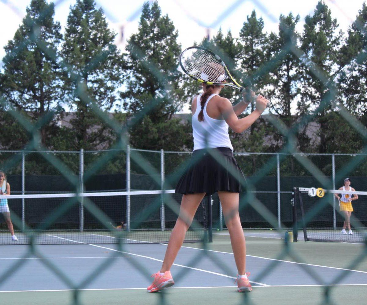 Kamerin Hull, junior, in a tennis match against Glendale.